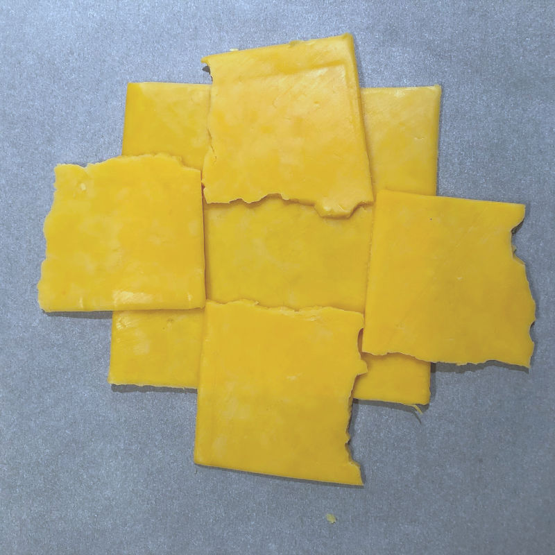 cheese on parchment paper