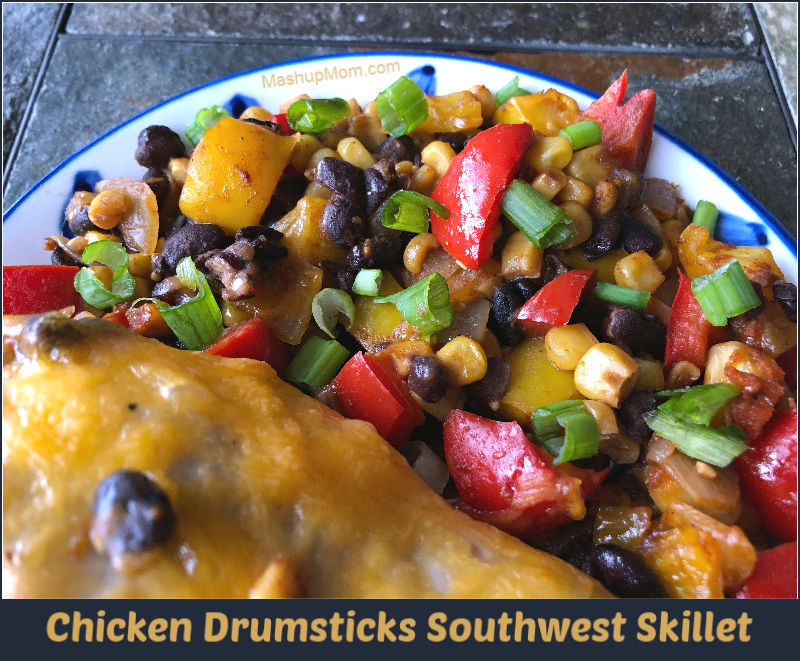 Chicken Drumsticks Southwest Skillet — An almost All ALDI recipe!
