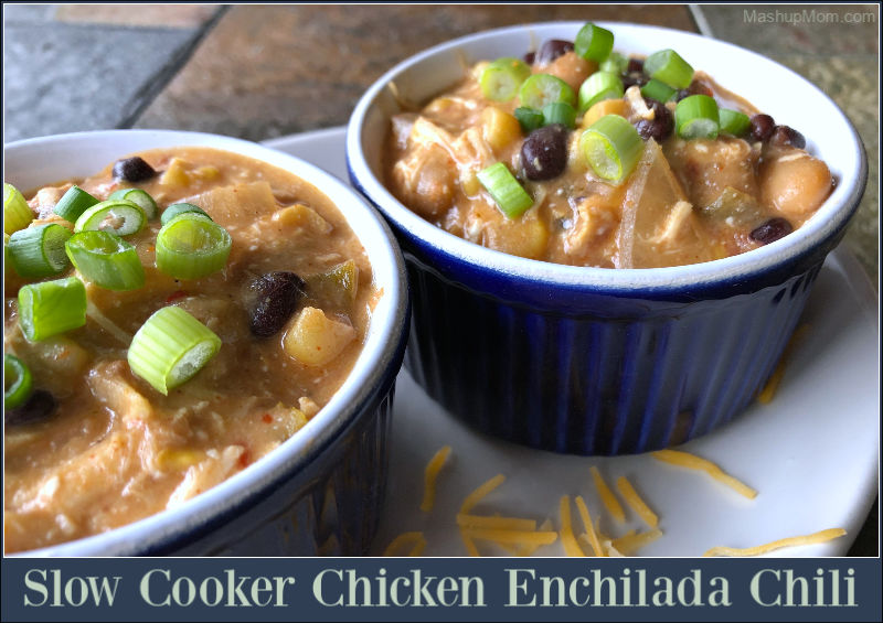 Slow Cooker Chicken Enchilada Chili — could be an All ALDI recipe!