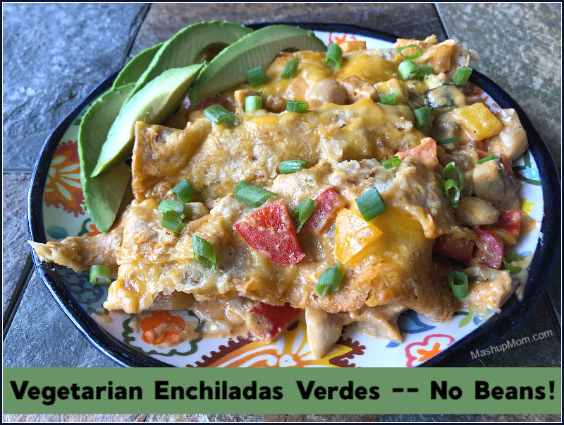 Vegetarian Enchiladas Verdes — An Almost All ALDI Recipe!