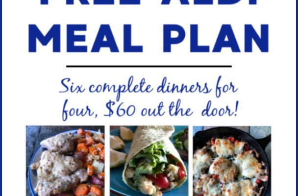 Free ALDI Meal Plan week of 3/24/19