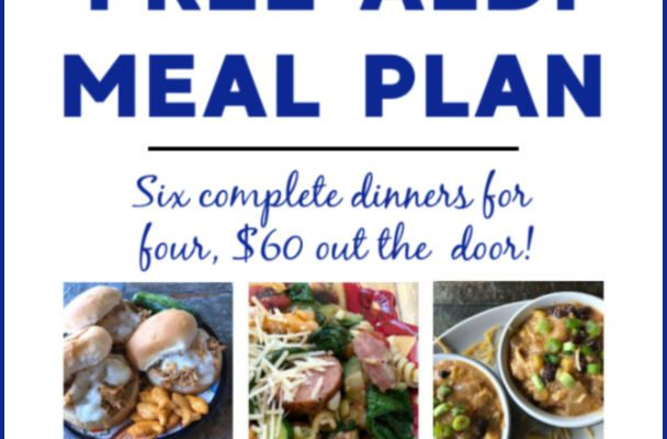 Free ALDI Meal Plan week of 4/14/19