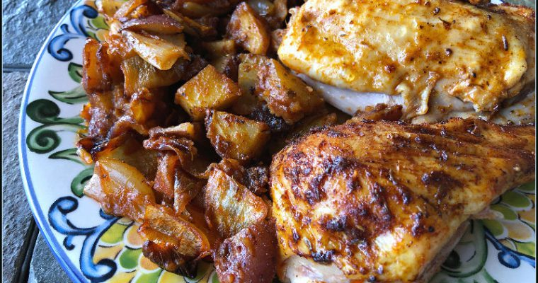 Paprika Roasted Chicken — An almost all ALDI recipe