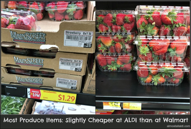 produce prices at aldi vs walmart