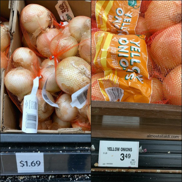 onion prices at aldi vs jewel
