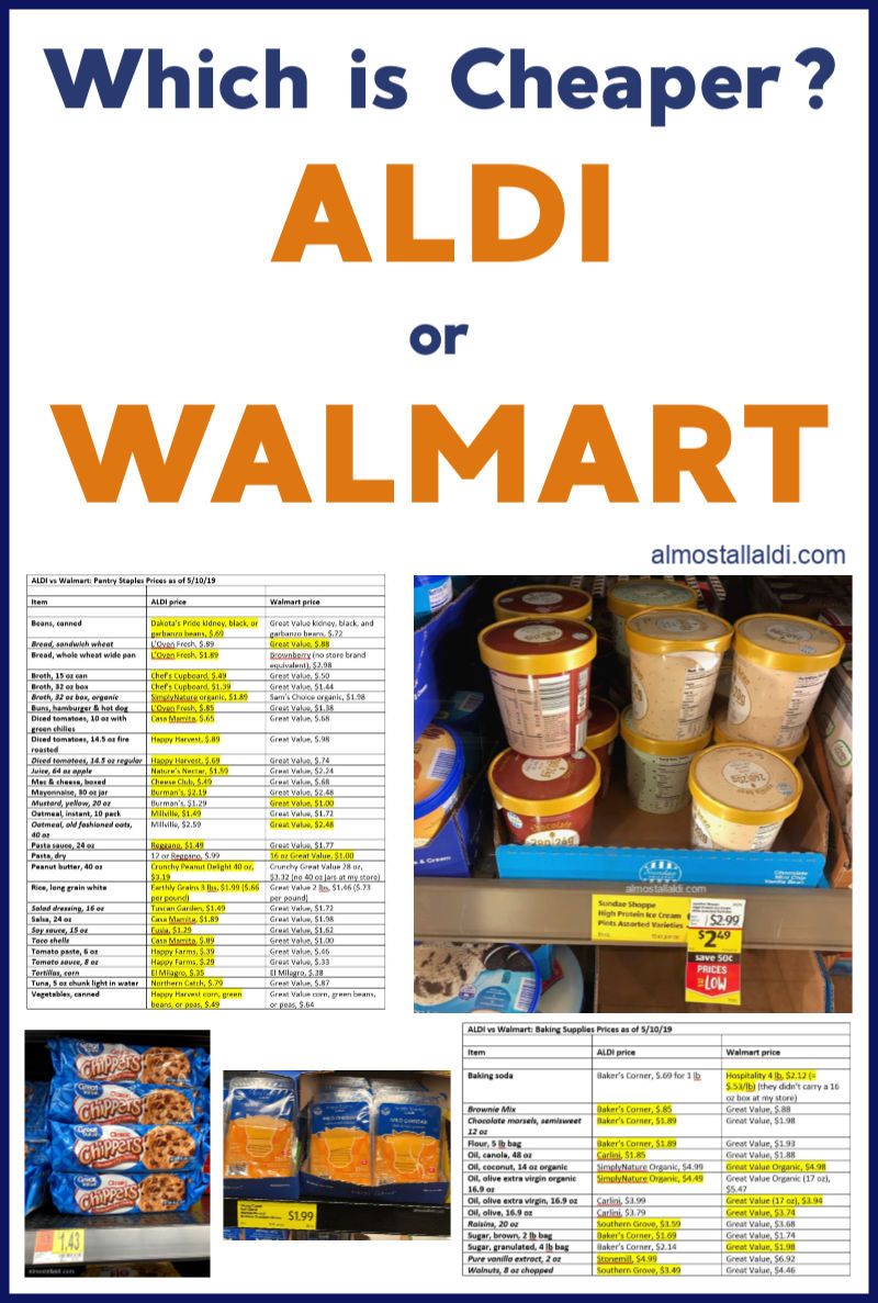 which is cheaper aldi or walmart