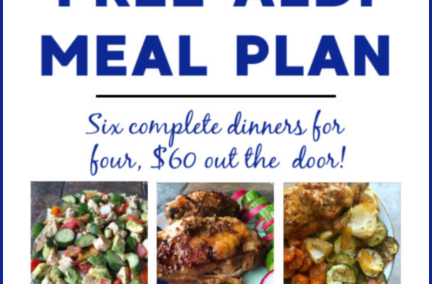 Mashup Mom ALDI Meal Plan week of 8/4/19