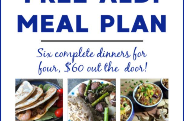 Mashup Mom ALDI Meal Plan week of 7/14/19
