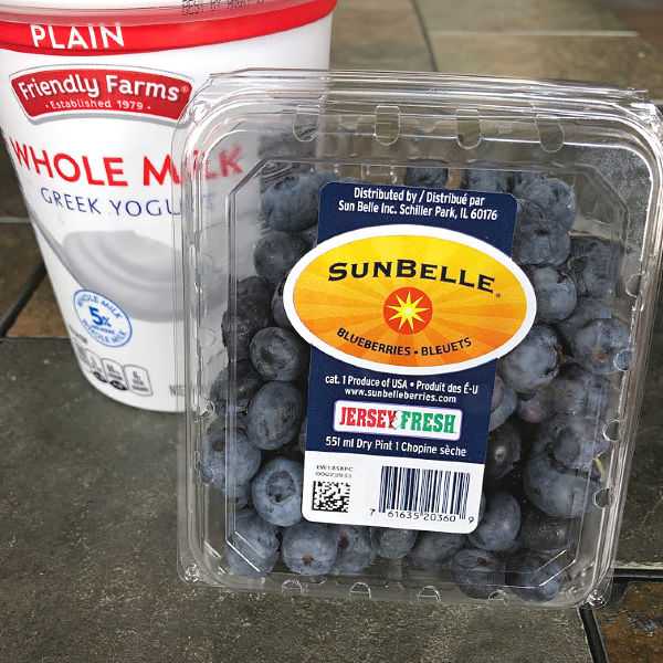 blueberries and yogurt from ALDI
