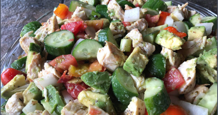 Chopped Chicken Avocado Cucumber Salad is easily an all ALDI recipe!
