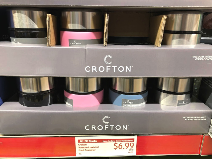 crofton vacuum sealed food containers at aldi