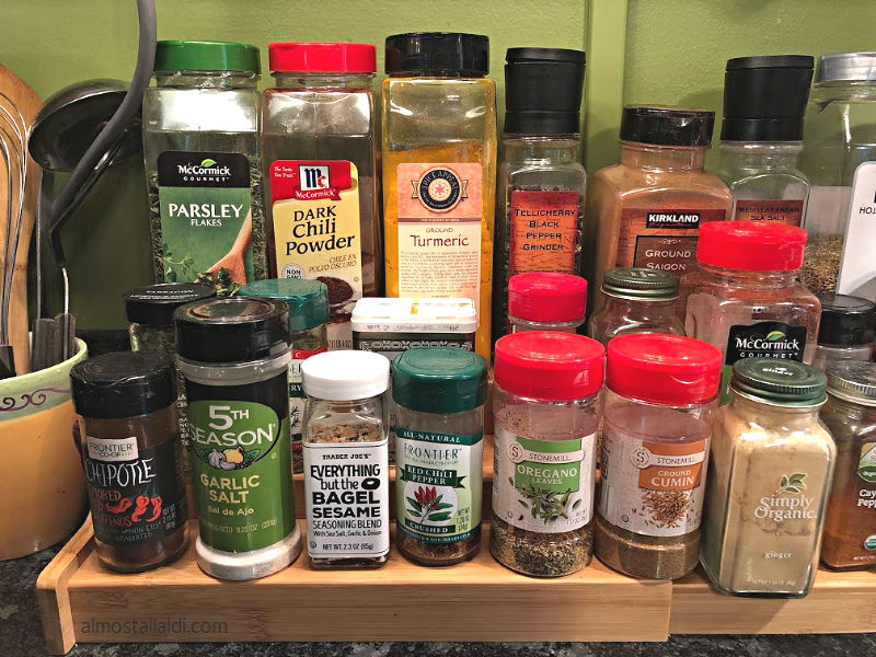 Easy Home Bamboo Expandable Spice Rack, plus how I save on spices!