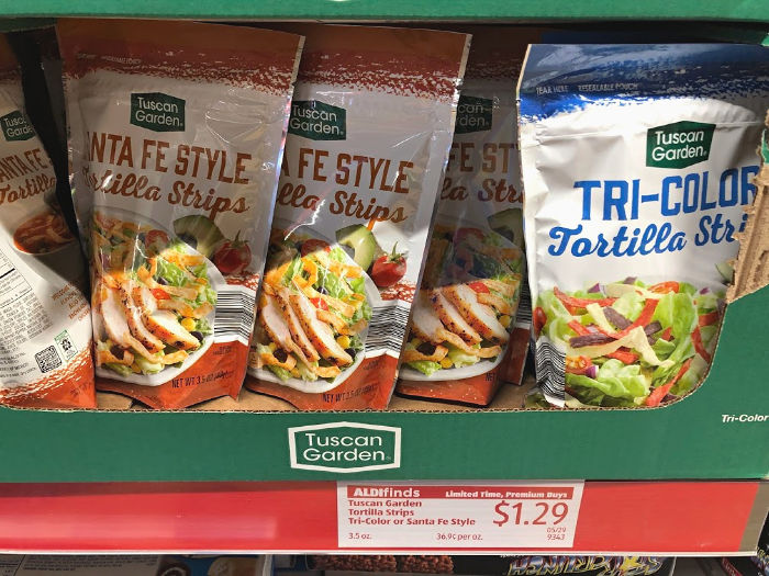 Tuscan Garden tortilla strips at ALDI