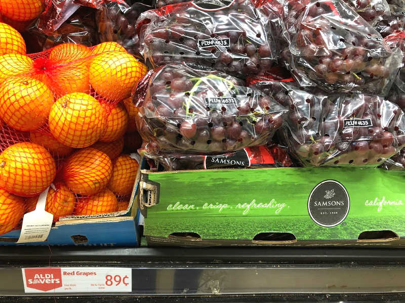 samson grapes at aldi