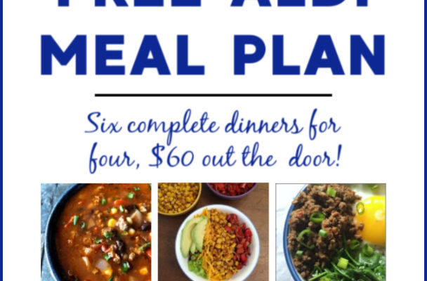 Mashup Mom ALDI Meal Plan week of 8/11/19