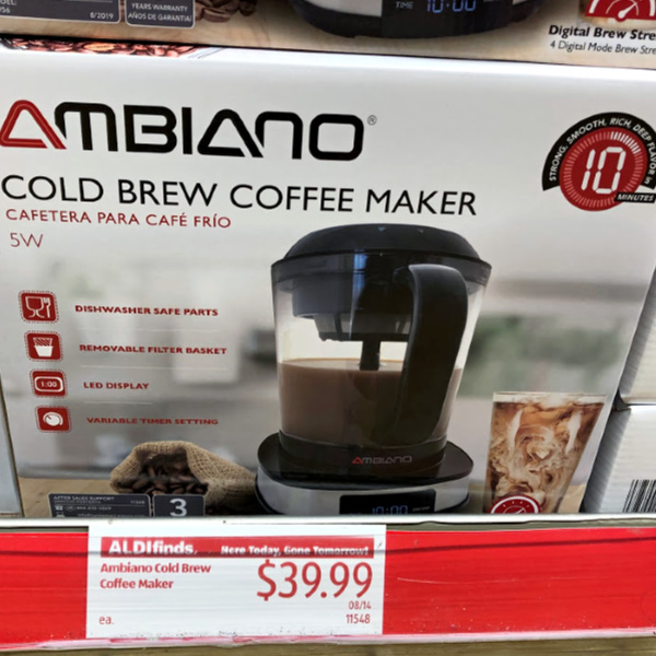ambiano cold brew coffee maker