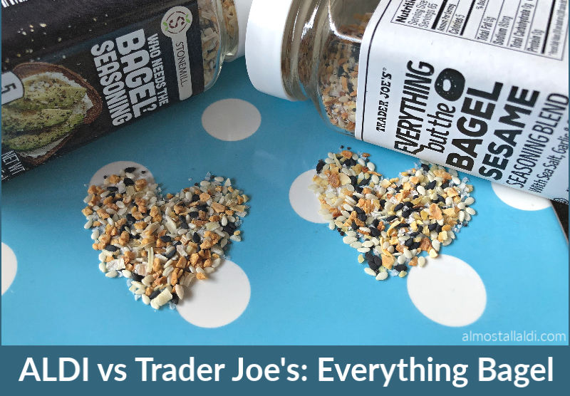 ALDI Who Needs the Bagel seasoning vs Trader Joe's Everything but the Bagel seasoning