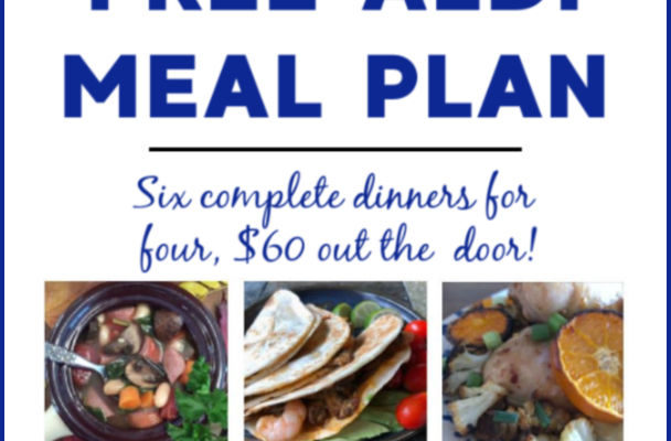 Mashup Mom ALDI Meal Plan week of 9/22/19