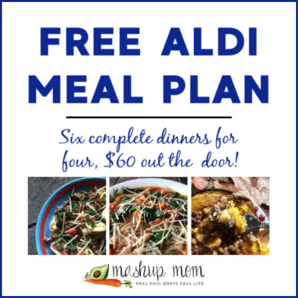 Mashup Mom ALDI Meal Plan week of 9/29/19