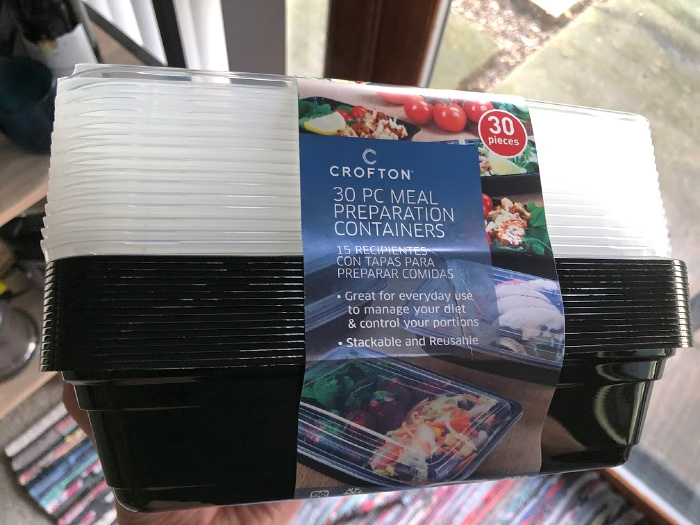Crofton meal prep containers from ALDI
