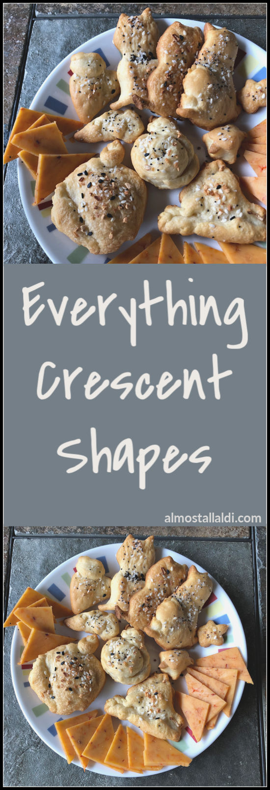 Everything Crescent Shapes is an easy two ingredient all-ALDI recipe that goes so nicely on a charcuterie board! Try something different with your next can. | almostallaldi.com