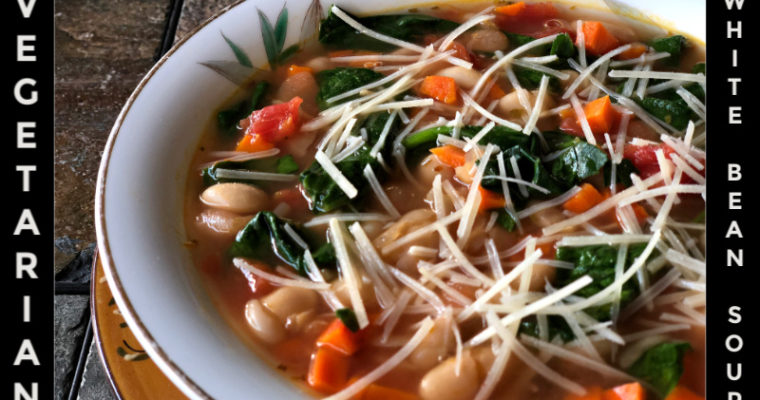 Simple Vegetarian White Bean Soup — Easily an all ALDI recipe
