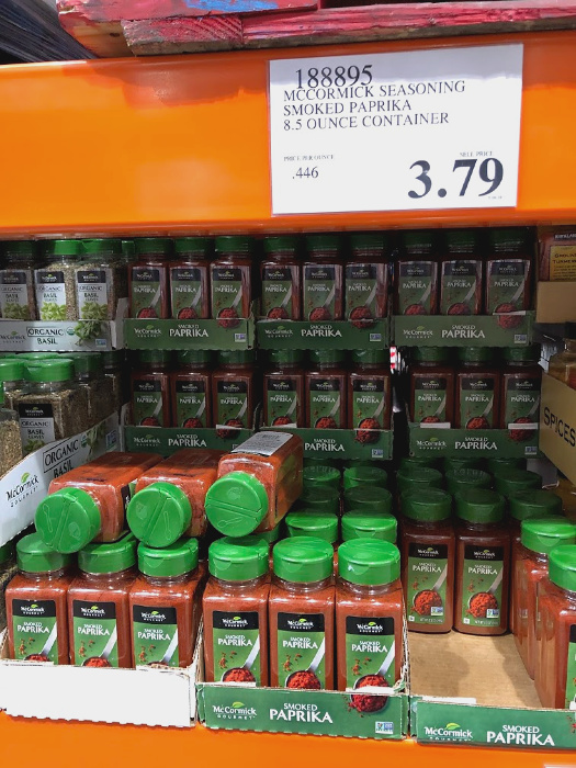 smoked paprika on the shelf at Costco