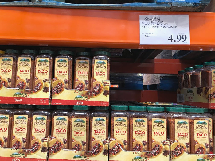 spice islands taco seasonings at costco