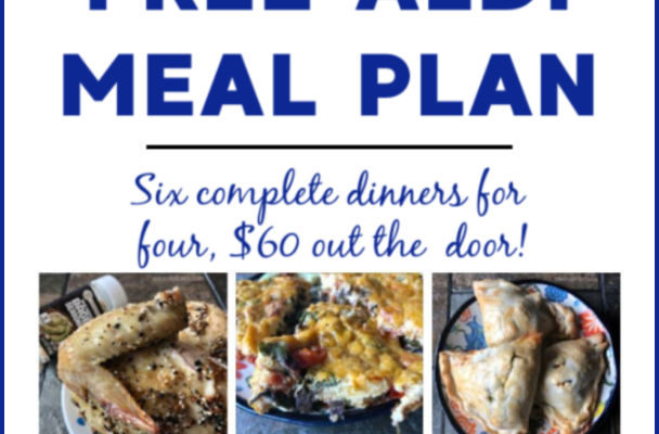 Mashup Mom ALDI Meal Plan week of 10/13/19