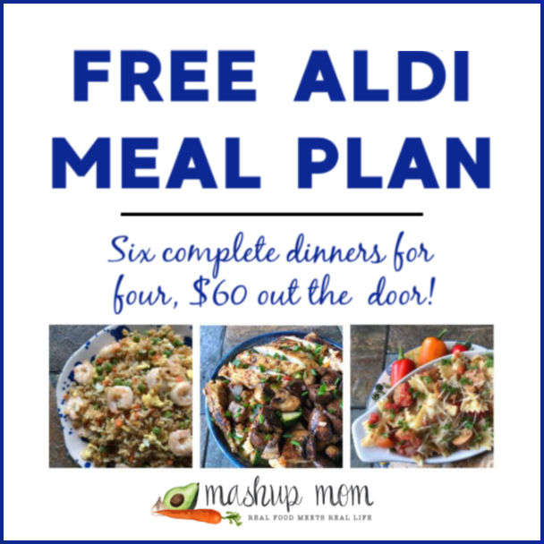 Mashup Mom ALDI Meal Plan week of 10/27/19