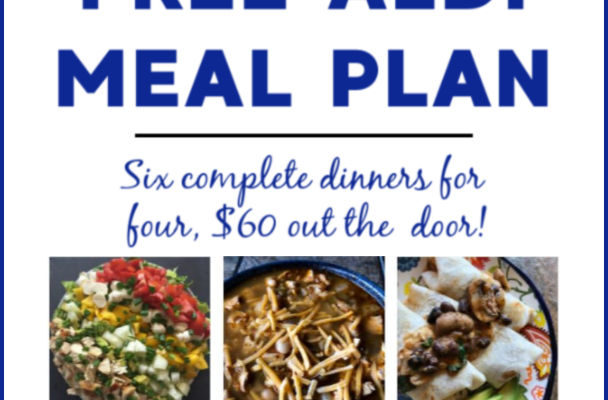Mashup Mom ALDI Meal Plan week of 10/6/19
