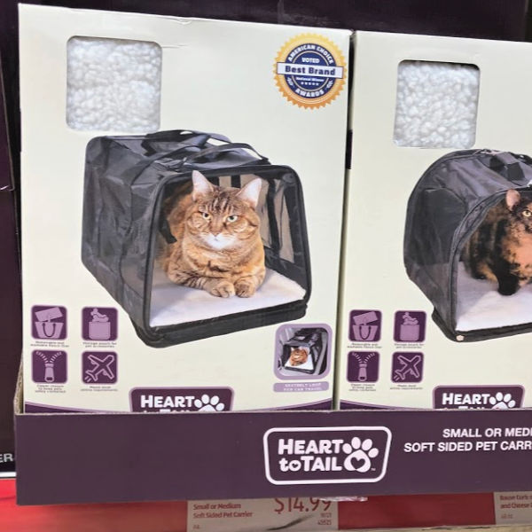 heart to tail cat carrier at ALDI