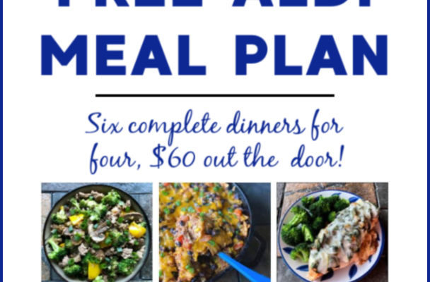Mashup Mom ALDI Meal Plan week of 12/1/19