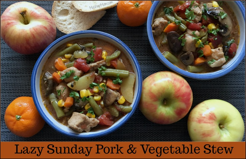 lazy sunday pork and vegetable stew
