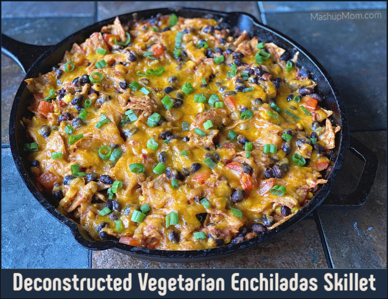 Vegetarian Enchiladas Skillet, an all ALDI recipe