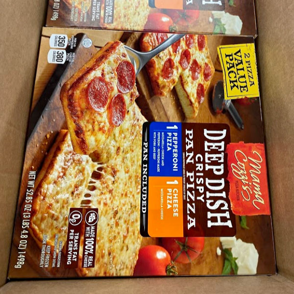 2 pizza value pack Mama Cozzi deep dish pizza at ALDI