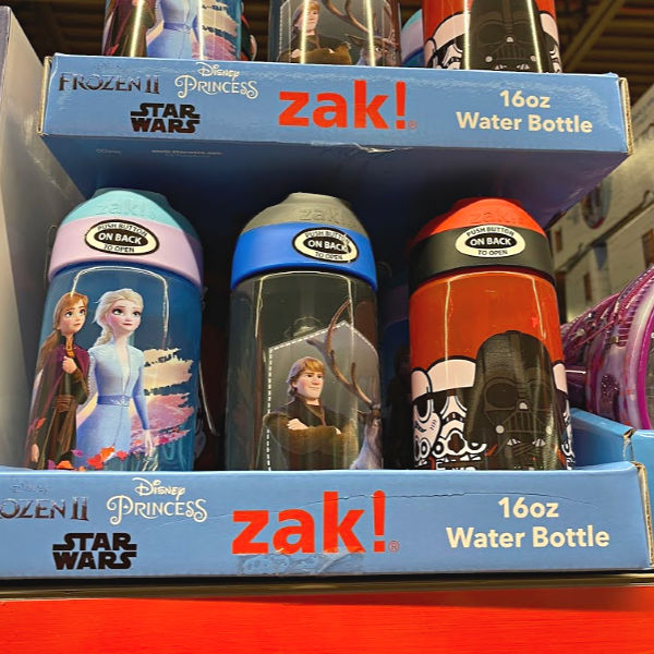 ZAK water bottles at ALDI -- Frozen II, Disney Princess, Star Wars