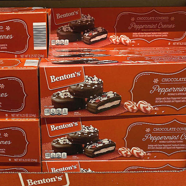 Benton's chocolate covered peppermint cremes at aldi