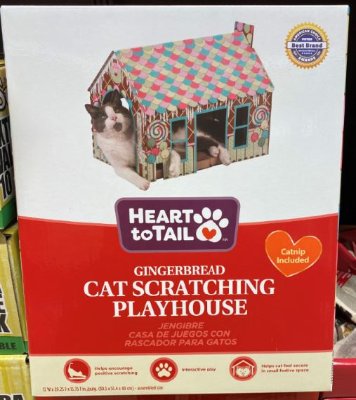 cat scratching house found in the ALDI Aisle of Shame