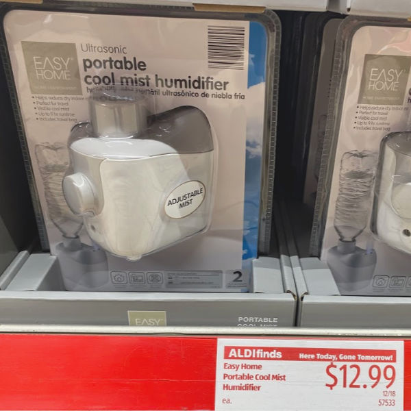 Easy Home cool mist humidifier on the shelf at ALDI