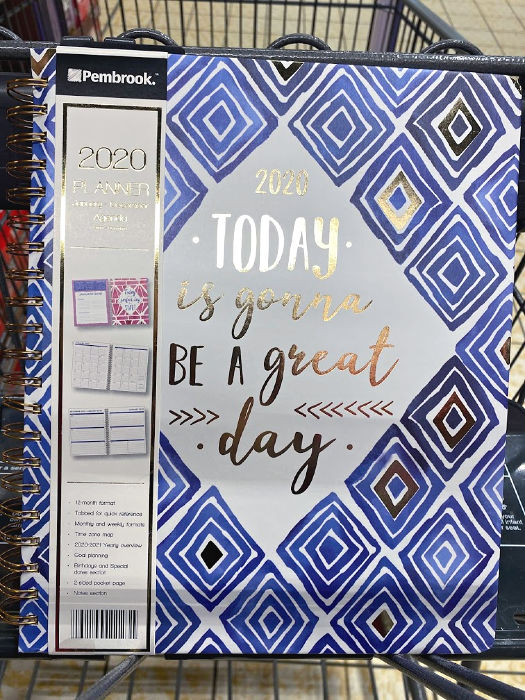 Pembrook 2020 planners at ALDI are inspirational
