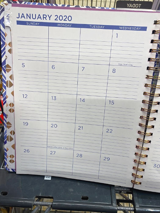 monthly planner pages at aldi