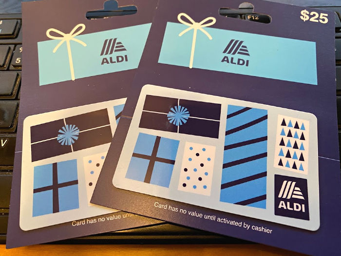 Two $25 ALDI gift cards to give away