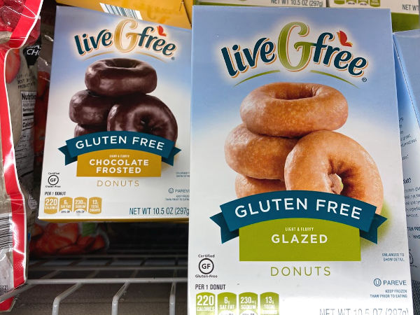 liveGfree gluten free donuts in the freezer section at ALDI