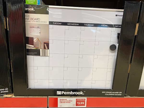 Pembrook dry erase and calendar boards at ALDI