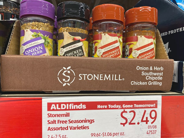 Stonemill salt free seasonings at ALDI