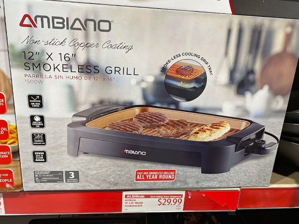 Ambiano smokeless electric grill at ALDI