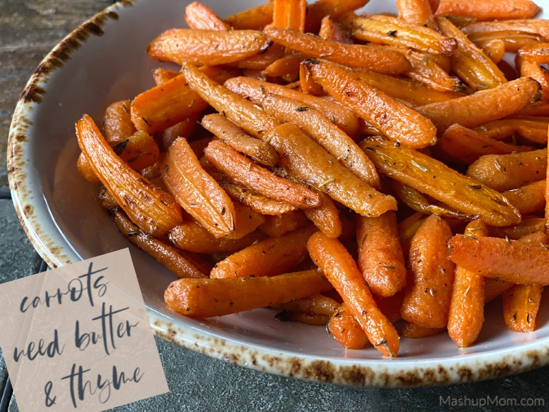 Roasted Carrots with Butter & Thyme, an all ALDI recipe