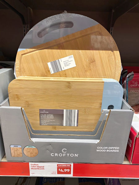 Crofton color dipped cutting board at ALDI