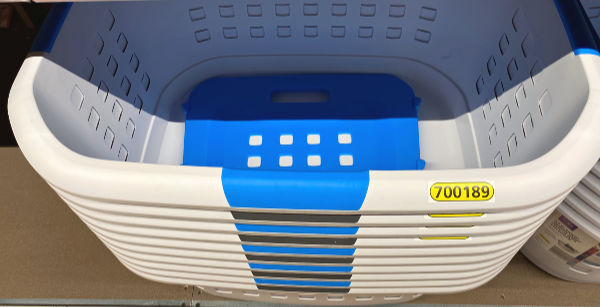 divided laundry basket at ALDI
